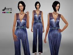 Glittered elegant jumper with a embellished belt. Standalone, HQ Texture, Custom thumbnail, 6 colors Found in TSR Category 'Sims 4 Female Everyday'