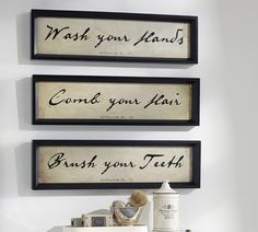 Bathroom Wall Art, Set of 3 by Pottery Barn on HeartThis