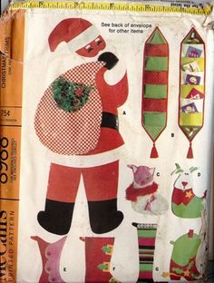 Vintage 1967 McCalls Christmas Pattern 8988 by TheIDconnection, $28.00