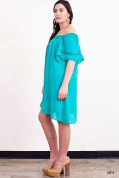 Umgee+ Jade Southern Bell Off the Shoulder Shift Boho Dress Plus  XL 1XL 2XL #Umgee #Shift #Casual