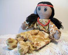 Vintage Native American Indian Rag Doll Cloth Toy Handmade