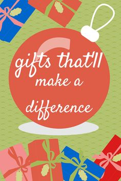 Gifts that will make a difference to those who are living on a tight budget