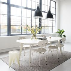 Tristan Frencken |   Bent dining white & Sqround Extended dining table & Joint Forces