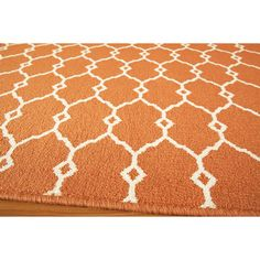 Indoor/Outdoor Orange Trellis Rug (7'10 x 10'10) | Overstock.com