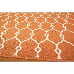 Indoor/Outdoor Orange Trellis Rug (7'10 x 10'10) | Overstock.com