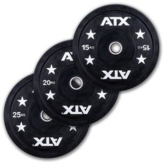 ATX® - Full Rubber - Gym Bumper Plates. Ob für Powerlifting, Gewichtheben oder Functional Fitness -  Bumper Plates werden höchsten Ansprüchen gerecht. Durch die erstklassige Gummiqualität besitzen diese Hantelscheiben eine hervorragende Aufprall- / Absorptionseigenschaft. Der gebördelte und hoch verpresste Metallinnenring gewährt ein schnelles und sicheres Handling…
