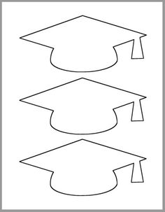 Graduation Cap Template-Printable Template-Grad Party Decor-Graduation Advice Cards-Graduation Cutout-Large Grad Caps-DIY Party Decor - Decoration For Home Graduation Cap Clipart, Graduation Templates, Graduation Crafts, Kindergarten Graduation, Graduation Invitations, Graduation Cap Drawing, Graduation Desserts, Graduation Quotes, Graduation Celebration