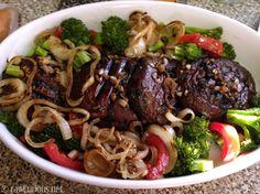 Grilled Portobello Steaks - raw diet (not raw, but vegan....will do!)