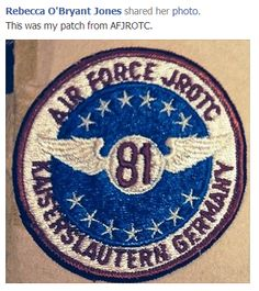 1981 Air Force JROTC patch shared by Rebecca O'Bryant Jones who attended KAHS.