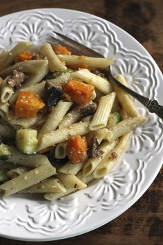 Roasted Seasonal Vegetables W/Pasta is adaptable to whatever veggies are fresh at the time!  {Brittany's Pantry} QUICKE and EASY too!