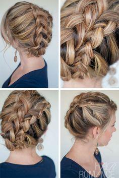 Lovely Ultra Trendy Asymmetrical Double Dutch Diagonal Braids   Hairstyles Weekly