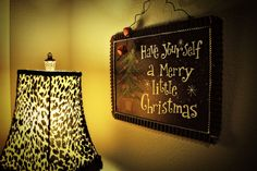 """an awesome """"Merry Christmas"""" sign"""