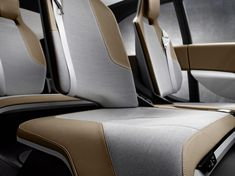 BMW i3 concept interior fabric texture leather brown grey comfort car seat cushion flow modern