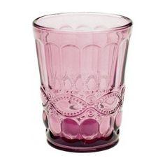 Vaso de cristal traslúcido Plum