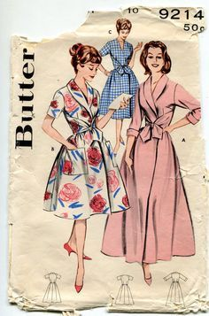 Vintage Butterick Sewing Pattern 9214