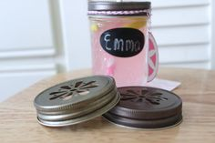 Mason Jar Lids, 30 Daisy Cut Stamped Straw Tops for Drink Tumblers Cups Glasses Kids Birthday Party Wedding Baby Shower Favors Antique Gold. $26.94, via Etsy.