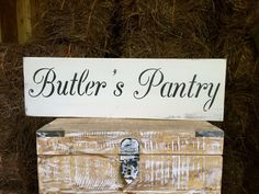 Rustic Wood Sign Butler's Pantry Pantry Kitchen by OconeeSignShack