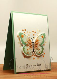 LIKE THIS COLOUR COMBINATION...... Stampin' Up! Watercolor Wings, Creativity Within : Watercolor Butterfly