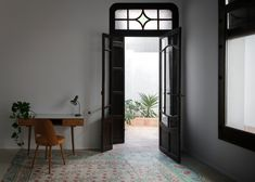 Gallery of Rehabilitation of Two Dwellings in El Cabanyal / Lola Bataller + Noelia Falcón - 19 Indochine, Wall And Floor Tiles, Other Rooms, Windows And Doors, Ground Floor, Living Spaces, Gallery, House, Design