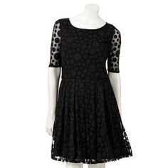 LC Lauren Conrad Dot Fit and Flare Dress