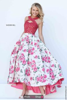 Sherri Hill Halter Top A Line Dress 50481