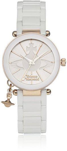 Vivienne Westwood white watch I want!!!!!!!