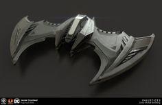 Injustice 2 - Batman Batwing, Batmobile, and Batarang, Jessie Graybeal Batman Auto, Batman 1966, Batman Arkham, Spaceship Art, Spaceship Design, Spaceship Concept, Injustice 2 Batman, Batman Poster, Batman Artwork