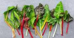 Kale isn& the only superfood in town. Learn the other six leafy greens you need to incorporate in your diet if you want to eat better and live healthy. Chard Recipes, Vegetable Recipes, Tummy Flattening Foods, Rainbow Chard, Tumblr Food, Best Weight Loss Foods, Fruit And Veg, Breakfast For Kids, Superfoods