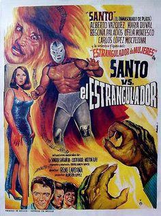 Santo Vs. El Estrangulador Poster New & Never Unfolded Unused Fine/VF Strangler http://produccioneslara.com/pelicula-polleros-venganza.php