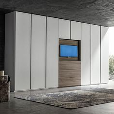 Big wardrobe with TV unit 'Hugo'. Beautiful piece, high quality materials, My Italian Living.