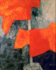 Poliakoff, Serge (1906-1969) - 1964 Composition in Gray and Red (Private Collection)   by RasMarley
