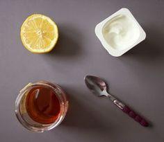 Face mask with yogurt, honey and lemon, Beauty Box, Beauty Make Up, Beauty Care, Beauty And The Beast, Diy Beauty, Beauty Skin, Beauty Hacks, Diy Masque, Body Treatments