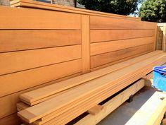 Iroko hardwood used for wall cladding & deck