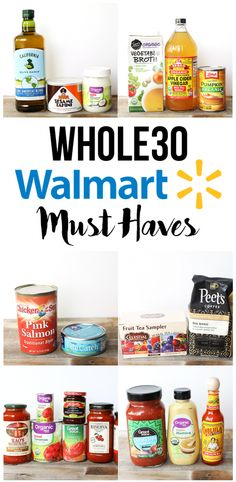 This Walmart Must Haves list will make shopping for your a lot easier and cheaper! This Walmart Must Haves list will make shopping for your a lot easier and cheaper! Whole 30 Meal Plan, Whole 30 Diet, Paleo Whole 30, Whole 30 Recipes, Clean Recipes, Paleo Recipes, Budget Recipes, Detox Recipes, Budget Meals