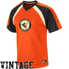 Get ready for Opening Day in this Fireballer V-neck tee! Featuring a throwback Orioles logo on the front and a team logo on each sleeve, this tee will give you that decked-out O-Birds look. The lightweight mesh material will keep you cool during those hot summer games.