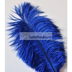 Navy Blue Ostrich Feathers Wholesale BULK CHEAP DISCOUNT DOZEN 12-14 inch12 Pieces Wedding Centerpieces and Crafts