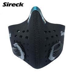 2017 Sireck Cycling Mask With Filter Half Face Carbon Dustproof Bicycle Bike Training Mask Mascarilla Polvo Mascaras Ciclismo