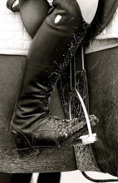 tall boots and mud