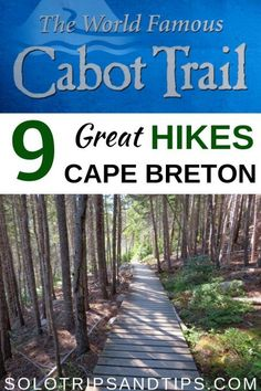 9 Great hikes in Cape Breton along the world famous Cabot Trail in Nova Scotia Highlands National Park - one of the most scenic drives in Canada Beautiful Places To Travel, Best Places To Travel, Cool Places To Visit, Nova Scotia Travel, Canadian Travel, Canadian Rockies, Cape Breton, Road Trip Hacks, Best Hikes