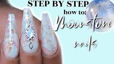 MOONSTONE NAILS - LAYERED LOOK QUICK TUTORIAL - YouTube Nail Art Diy, Diy Nails, Manicure, Engagement Nails, Work Nails, Diy Crystals, Kiss Makeup, Nail Tutorials, Layered Look