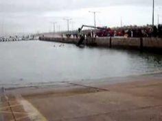 Carro cai ao mar em Peniche 16/01/2010