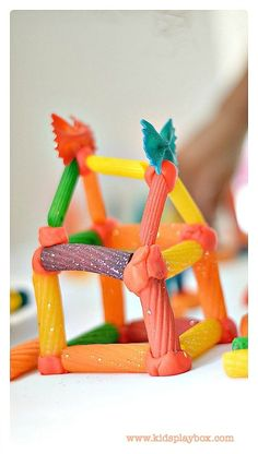 Play With Pasta - simple engineering for kids