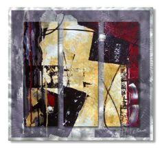 All My Walls U0027Merlot Movementu0027 By Ruth Palmer 3 Piece Painting Print Plaque  Set