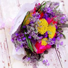 bright colored flowers.
