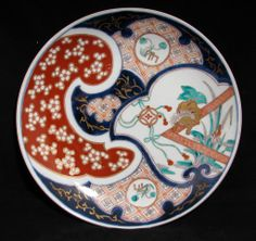 Meiji Japanese Imari Charger with organic designs - Large 19th Century $300