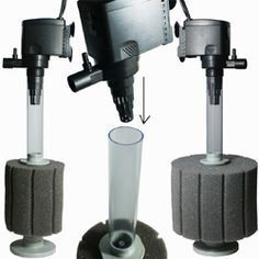 Aquarium & Pond Sponge Filtration | How these Filters Work http://www.americanaquariumproducts.com/sponge_filtration.html #AquariumFilterIdeas