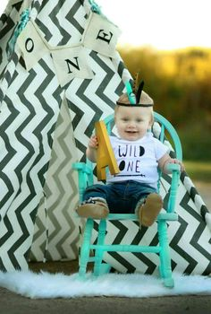 Aztec inspired birthday highchair banner, Wild One, teepee, pow wow, Tribal theme for boy or girl,arrows,archery,garland,photo prop