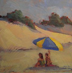 Heidi Malott Original Paintings: Beach Figures Sand Dunes Labor Day Weekend Daily O...