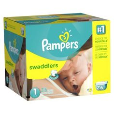 Pampers Swaddlers Diapers Economy Plus Pack **This is our choice for overnight. No leaks or issues so far! And it's been a while, we are potty training soon.**