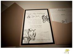 Animal Themed Wedding Invitation